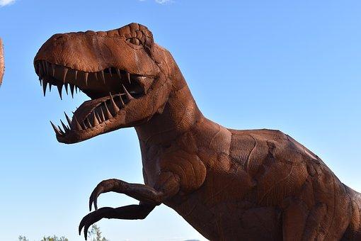 Art, Iron, Statue, Metal, Figure, Dinosaurs, Monster