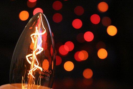 Bulb, Light, Bokeh, Light Bulb, Light Bulbs