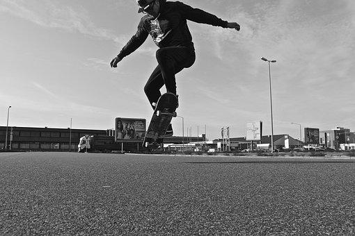 Boy, Man, Skating, Skateboard, Tricks, Young Man, Human