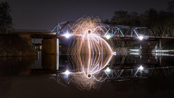 Bridge, Oranienburg, Lehnitz, Steel Wool, Artwork