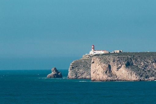 Algarve, Portugal, Cabo Sao Vicente, Lighthouse