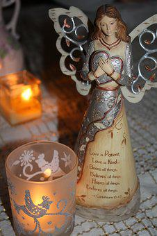 Angel, Candlelight, Love, 1 Corinthians 13, Candle
