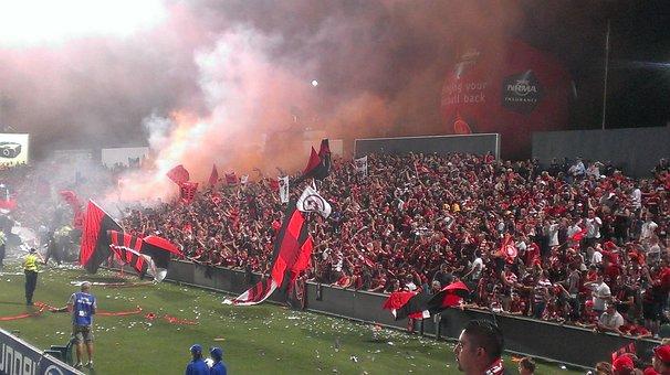 Football, Fans, Soccer, Rbb, Wsw, Sydney, Flares, Flags