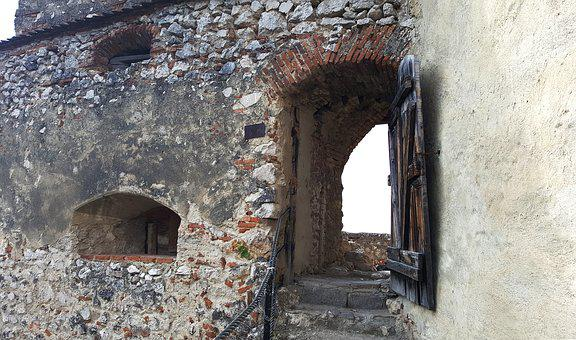 Door, Goal, Medieval, Castle, Fortress, City, Stone