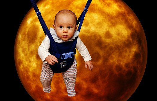 Little Man In The Moon, Funny, Baby, Moon, Depend, Cute