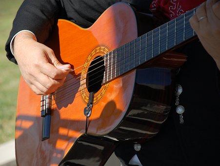 Instrument, Mariachi, Hand Holding Quitar, Guitar
