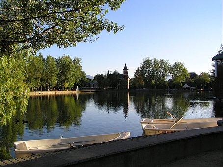Puigcerda, Pond, Lake, Water, Nature, Reflection