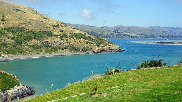 Otago, Booked, Water, Sea, Rock, Landscape, New Zealand
