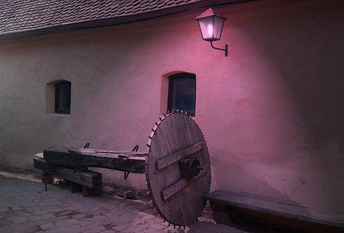 Wheel, Medieval, Lantern, Antique, Architecture, Window