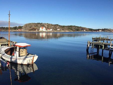 Bohuslän, Havstensund, Sea, Morning Sun, Archipelago