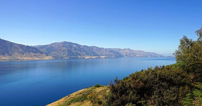 Lake Hawea, New Zealand, Mountains, Landscape