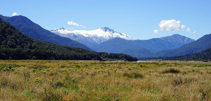 Mountains, Southern Alps, New Zealand, Glacier, Mt