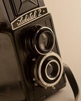 Lens, Retro, Current Photo, Camera, Old