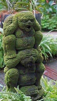 Sculpture, Singapore, Orchid Garden, Moss