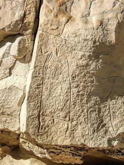 American, Indian, Petroglyphs, Wyoming, Desert, Rocky