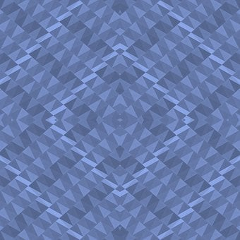Fabric, Textile, Geometric, Shapes, Blue, Shades, Hues