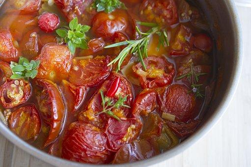 Stewed Tomatoes, Dish, Soup, Italian Cuisine