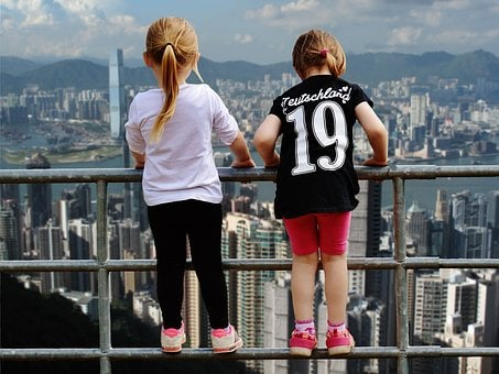 Hong Kong, View, Girl, Fence Brave, Gorge, Stunning