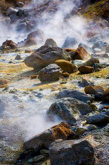 Volcano, Volcanic, Rock, Hot Spring, Hot Springs