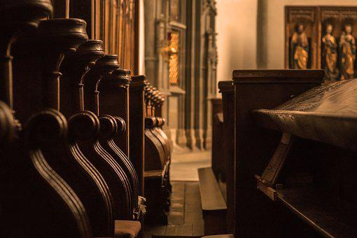 Church, Wood, Old, Architecture, Bank, Church Pews