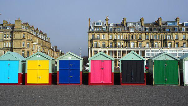 Hove, Beach Huts, Brighton, Wooden, Buildings, Holiday