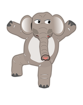 Elephant, Animal, Anthropomorphized, Dancing, Zoo