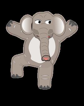 Elephant, Animal, Anthropomorphized, Dancing, Zoo