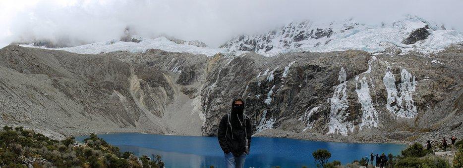 Mountain, Lake, Bergsee, Landscape, Snow, Peru, Hiking