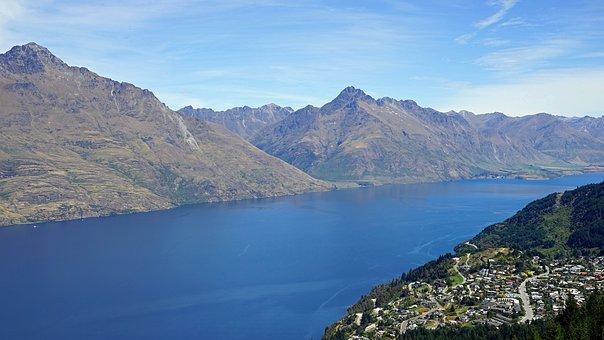 Lake Wakatipu, Queenstown, Bobs Peak, New Zealand
