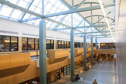 Atrium, Library, Architecture, Modern, Building