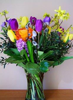 Bunch Of Flowers, Color, Cut Flower, Flower Vaze