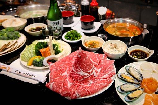 Shabu, Shabu Shabu, Japanese, Food, Cooking, Dinner