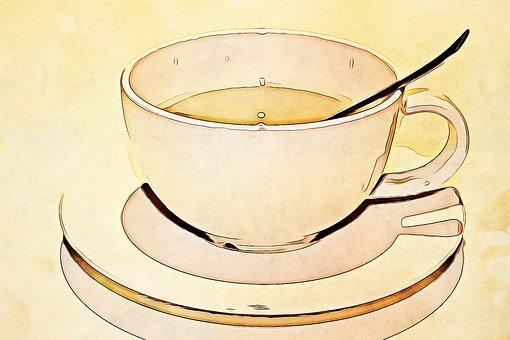 Digital, Graphics, Mug, Cup, Spoon, Tea, Update