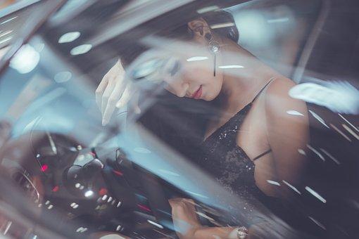 Woman In The Car, Beauty, Girl, Fashion, Fashion Girl