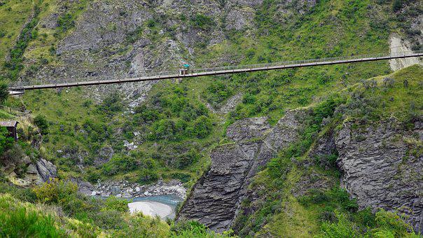 Bridge, Skippers Canyon, Queenstown, New Zealand, Gorge