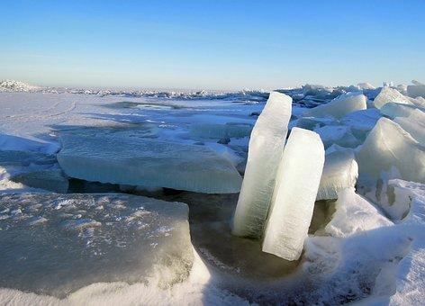 Ice, Winter, Snow, Nature, Gulf Of Finland, Russia