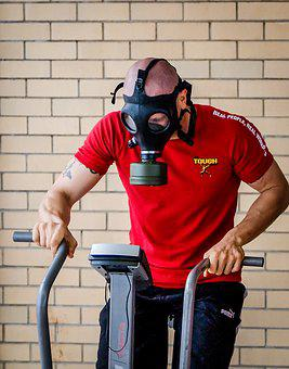 Gasmask, Gas Mask, Training, Gym, Hardcore Training