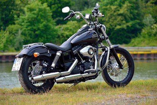 Harley, Tiefenschärfe, Water, Harley Davidson