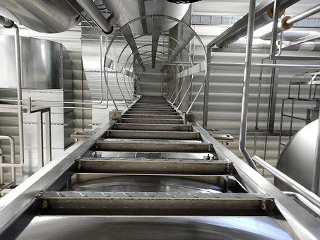 Industry, Tank, Pipes, Metal, Stainless Steel, High