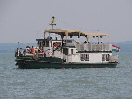 Lake Balaton, Ship, Lake, Hungary, North At 5 Mph