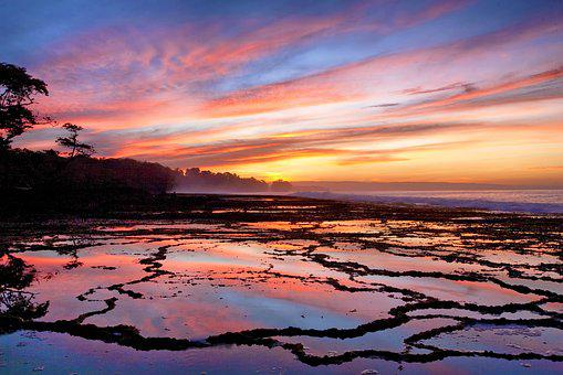 Morning Glow, Sawarna Coast, Java, Indonesia