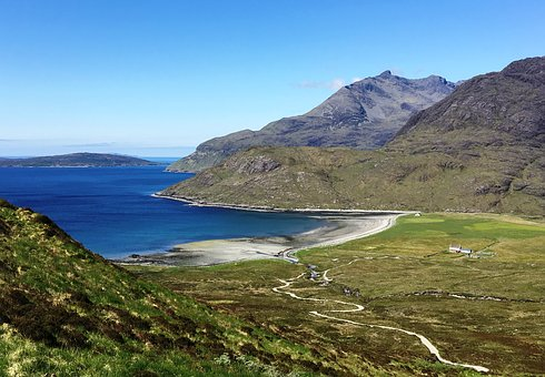 Scotland, Isle Of Skye, Camasunary Bay, Scenic, Scenery