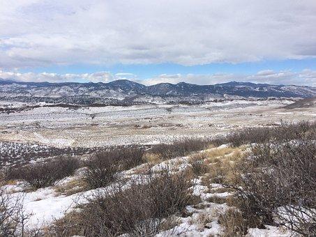 Foothills, Snow, Landscape, Winter, Outdoor, Scenery