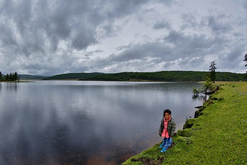 Little Girl, Lake, Khuvsgul Region, Mongolia