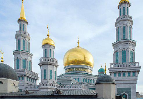 Big Mosque, Mosque, Temple, Moscow, Dome, Church, Islam