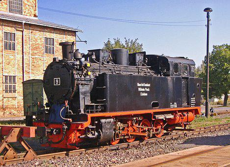 Steam Locomotive, Factory Railway, Narrow Gauge, 750 Mm
