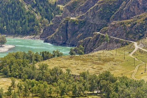 Mountains, Landscape, Mountain Altai, Nature