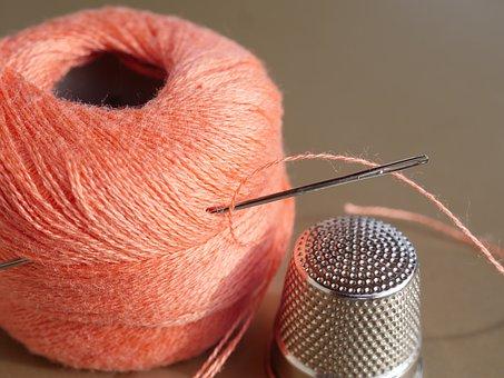 Needle, Thread, Sewing Thread, Thimble, Sew, Hand Labor
