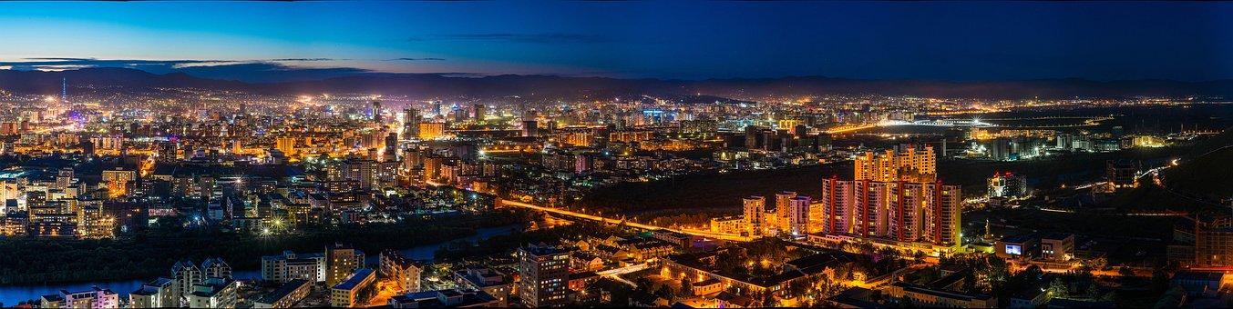 Night View, Ulaanbaatar Eastern, Mongolia
