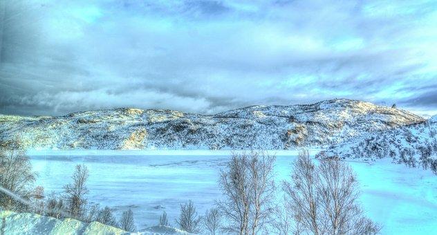 Norway, Kirkenes, Snowhotel Landscape, Ice Sculptures
